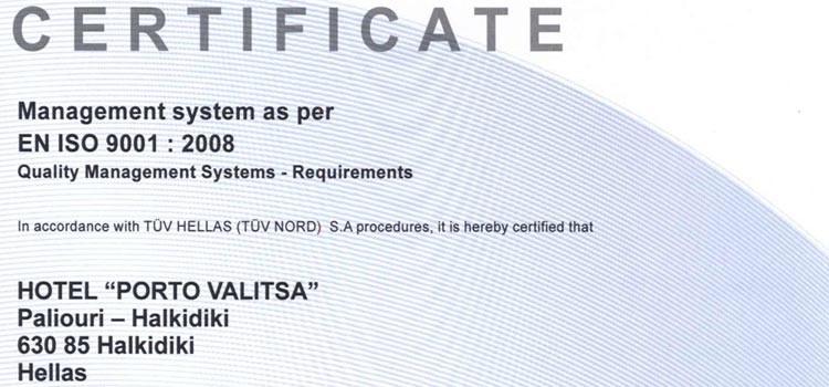 PORTO VALITSA-9001-EN-CERTIFICATE