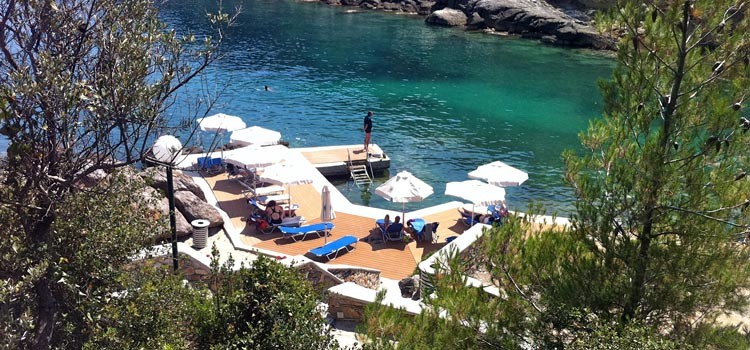 Private beach of Porto Valitsa