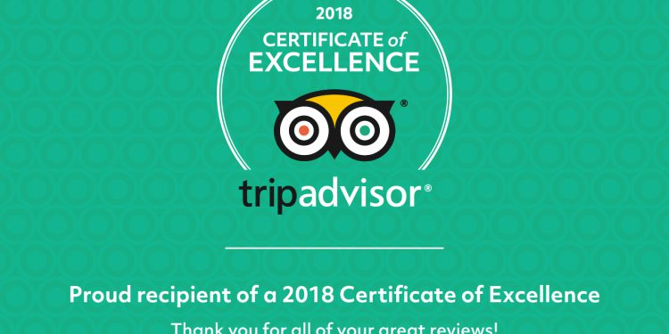 PORTO VALITSA EARNS 2018 TRIPADVISOR CERTIFICATE OF EXCELLENCE
