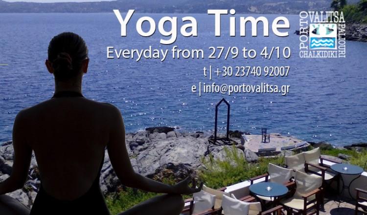 Yoga Time at Porto Valitsa Resort - Halkidiki